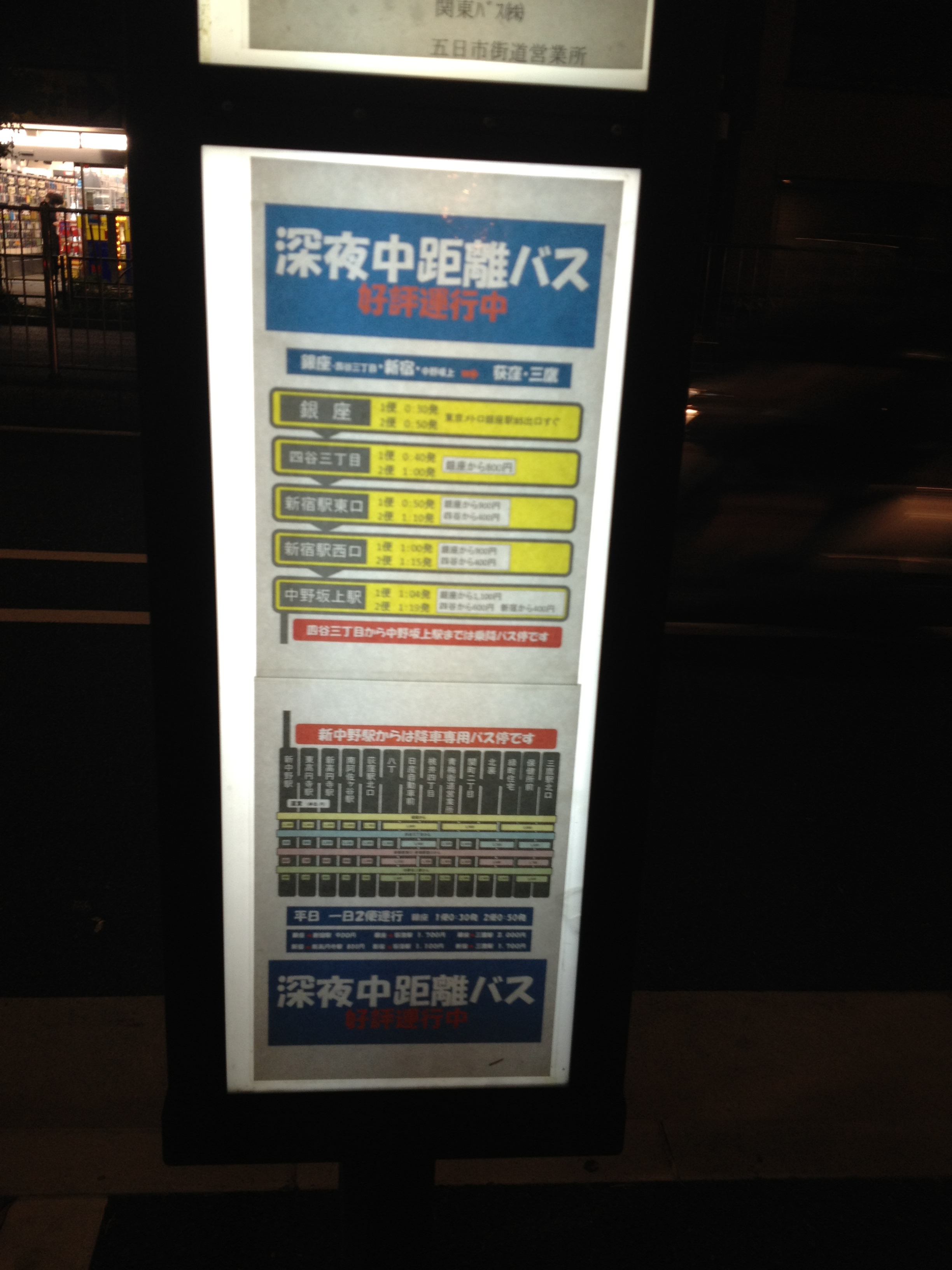 深夜中距離バス
