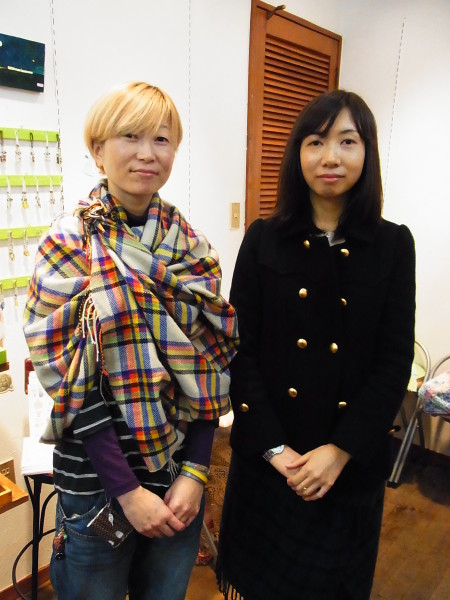 taneumu雑貨展~てづくり作家の作品展で、佐久間さんと佐藤さん