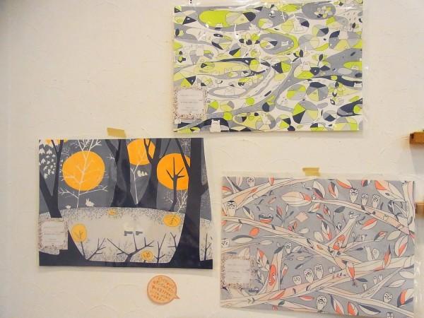 taneumu雑貨展~てづくり作家の作品展でギャラリー内の壁その1