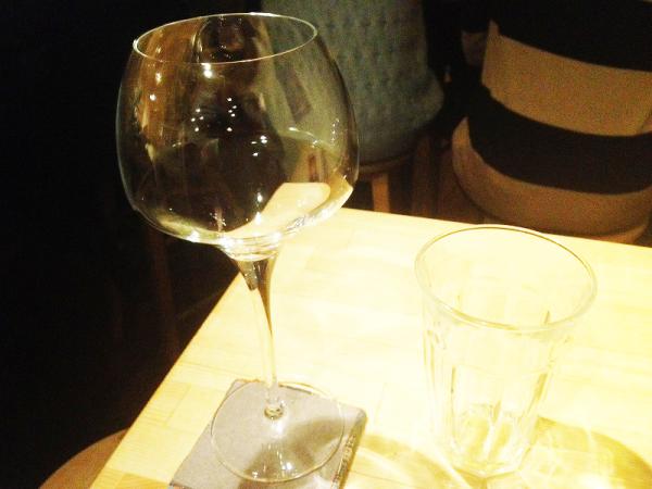 ボナセリーナさんのワイングラスとビアグラス