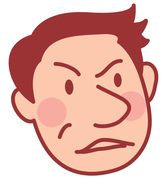 怒っている表情の夫のアイコン_01