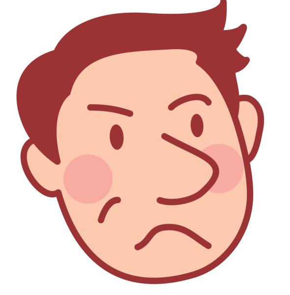 不満げな表情の夫のアイコン_01