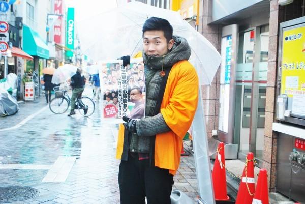 純情商店街入り口付近にて演芸まつりのスタッフさん