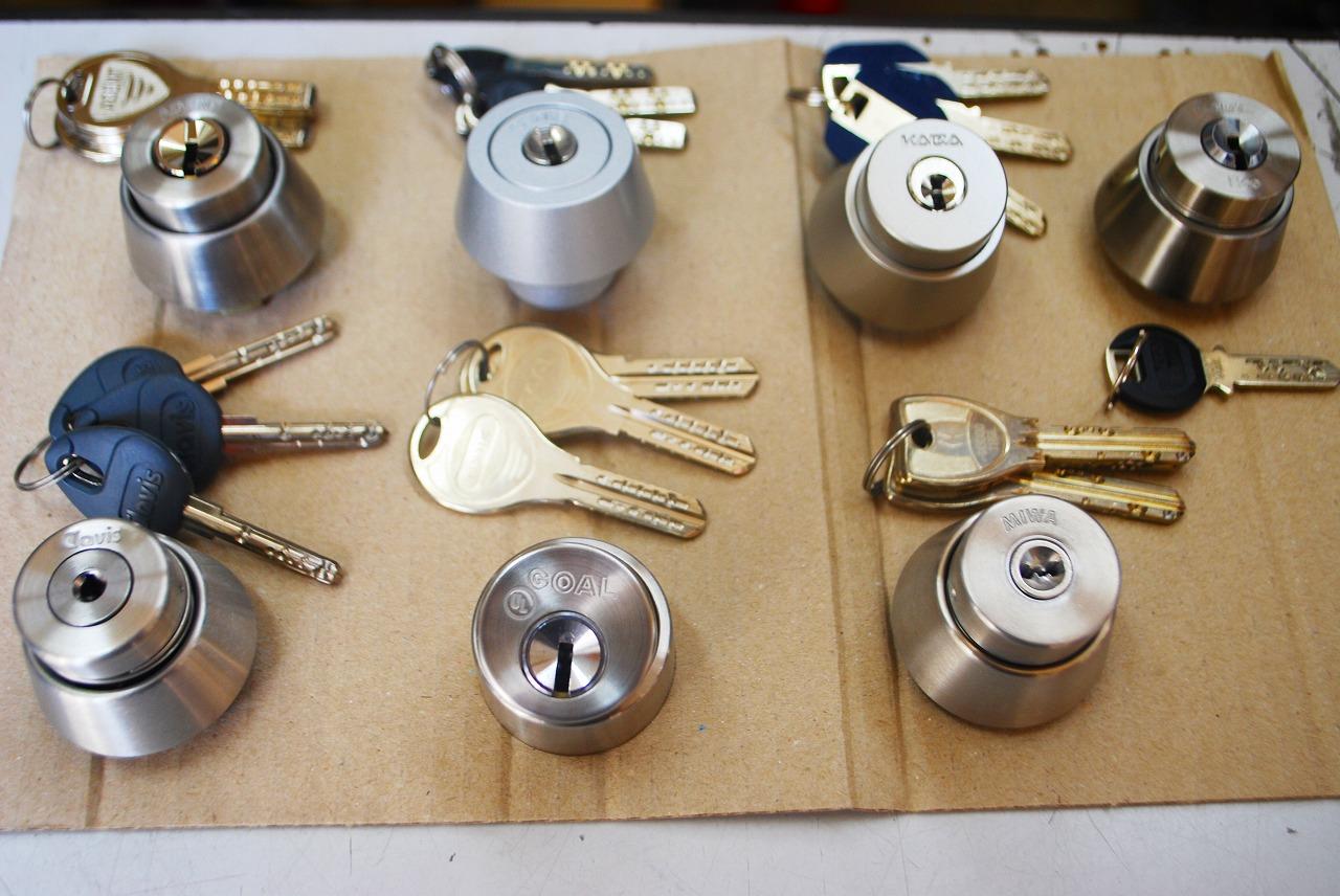 エキスパートさんの豊富な錠前と鍵の一部