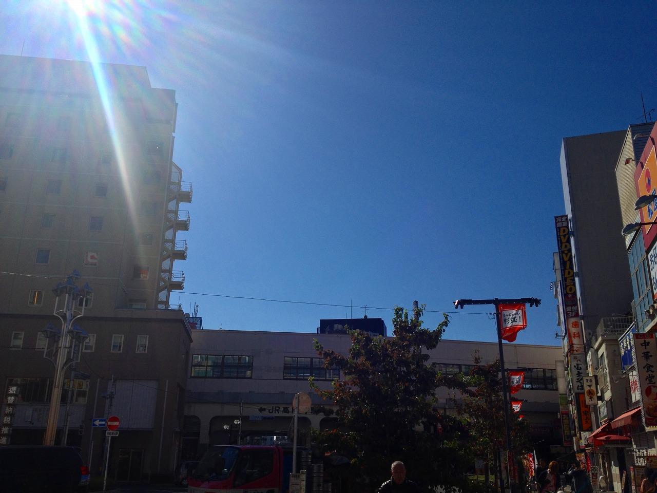 秋晴れの高円寺フェス2日目の高円寺