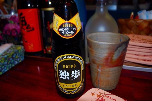 テシゴトカフェ 星ノ夜ノボートさんにある岡山の地ビール独歩